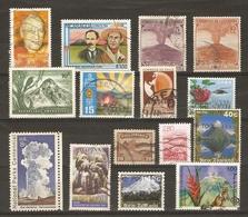 Volcans - Petit Lot De 15 Timbres° - Vulcanologie - Activités Sismiques - Geyser - Haroun Tazieff - Postzegels