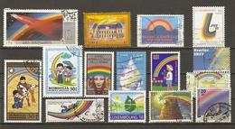 Arc-en-ciel - Rainbow - Petit Lot De 15 Timbres° - Timbres