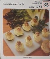 Fiche Recette Cuisine - Bouchées Aux Noix - Mes Recettes Préférees - Alte Papiere