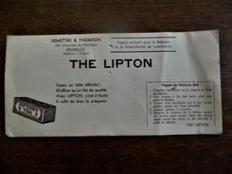 Oud Vloeipapier  THE  LIPTON - Café & Thé