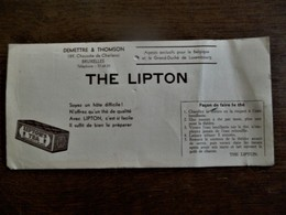 Oud Vloeipapier  THE  LIPTON - Coffee & Tea