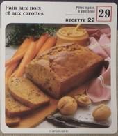 Fiche Recette Cuisine - Pain Aux Noix Et Aux Carottes - Mes Recettes Préférées - Alte Papiere