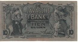 NETHERLANDS INDIES    10 Gulden      P79b    Nice Grade  XF ( Dated 12.9.1938 ) - Indes Néerlandaises