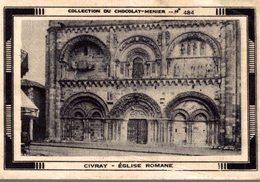 CHROMO COLLECTION DE CHOCOLAT-MENIER IMAGE N°484 CIVRAY L'EGLISE ROMANE - Menier