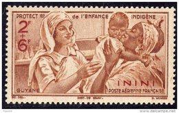 Inini PA N° 2  XX Protection De L'Enfance : 2 F. + 6f. Brun Et Brun Carminé, Sans Charnière TB - Inini (1932-1947)