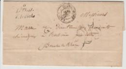 Ardèche - Le Teil - Lettre Facture Du 28/05/1853 De Terrasson Fougeras à Marre (Marseille) - Manuscrits