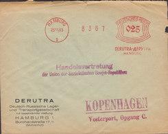 Deutsches Reich HAMBURG 1933 Meter Cover Freistempel Brief Handelsvertretung UNION SOZIALISTISCHER SOWJET-REPUBLIKEN - Deutschland