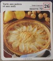 Fiche Recette Cuisine - Tarte Aux Poires Et Aux Noix - Mes Recettes Préférées - Alte Papiere