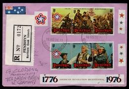 PENRHYN - COOK ISLANDS / 1976 LETTRE RECOMMANDEE POUR L'ALLEMAGNE (ref LE2948) - Penrhyn