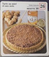 Fiche Recette Cuisine - Tarte Au Miel Et  Aux Noix - Mes Recettes Préférées - Alte Papiere