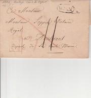 AUTRICHE PAR HUNINGUE En Rouge De 1822 , Entrée Par Courrier -convoyeurs-ambulants Réf 48 Par Noël - Marcophilie (Lettres)