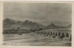 Real Photo Esfahan Un Des Vieux Ponts Sur Le Zayandé Roud  Edit Kashano Bros. - Iran