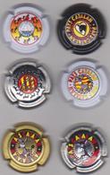 LOT 6 CAPSULES PAYS CATALAN . MOTIF ANE - Capsules & Plaques De Muselet