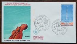 FDC 1979 - YT Aérien N°52 - SALON INTERNATIONAL DE L'AERONAUTIQUE ET DE L'ESPACE - LE BOURGET - FDC