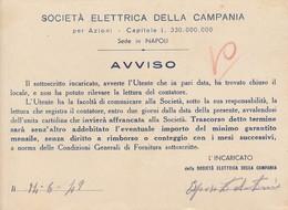 Napoli. 1949.Societa' Elettrica Della Campania. AVVISO. - Italy