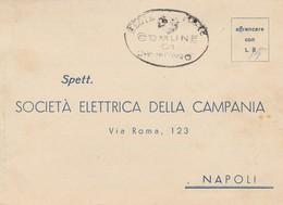 Napoli. 1949.Societa' Elettrica Della Campania. Al Verso : LETTURA CONTATORE - Italy