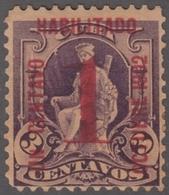 1902-120 CUBA REPUBLICA. 1902. HABILITADO 1c. GOMA ORIGINAL. - Nuevos