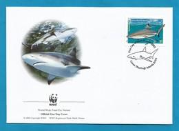 Australien / Cocos (Keeling) Islands  2005  Mi.Nr. 422 , Blacktip Reef Shark - WWF Official First Day Cover 21 June 2005 - Cocos (Keeling) Islands