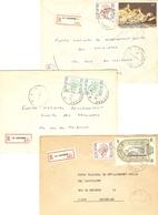 Belgique - 3 Lettres Recommandées + LA LOUVIERE - 1982 - Province Du Hainaut - Cob 1962/1984/2303/2020 - Belgien