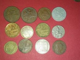 SUPERBE 12 Monnaies Françaises 1 Franc ARGENT 1917 TTB Et Autres Non Nettoyé VOIR PHOTOS - Frankreich