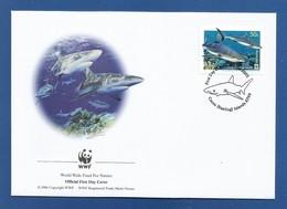 Australien / Cocos (Keeling) Islands  2005  Mi.Nr. 421 , Grey Reef Shark - WWF Official First Day Cover 21 June 2005 - Cocos (Keeling) Islands