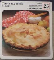 Fiche Recette Cuisine - Tourte Aux Poires Et Noix - Mes Recettes Préférées - Alte Papiere
