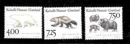Serie De Groenlandia Nº Yvert 253/55 **  ANIMALES (ANIMALS) - Groenlandia