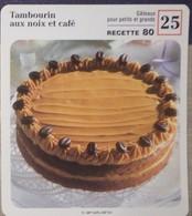 Fiche Recette Cuisine - Tambourin Aux Noix Et Café Gâteau - Mes Recettes Préférées - Alte Papiere