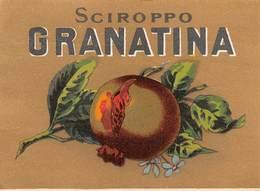 """D8969 """"SCIROPPO - GRANATINA - FINE XIX SEC.""""  ETICHETTA ORIGINALE - Frutta E Verdura"""
