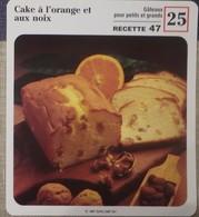 Fiche Recette Cuisine - Cake à L'orange Et Aux Noix - Mes Recettes Préférées - Alte Papiere