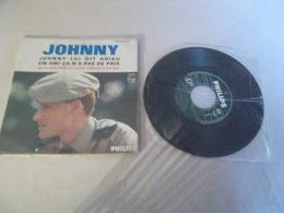 VINYLE 45 T JOHNNY JOHNNY LUI DIT ADIEU PHILIPS MEDIUM 4337 007 BE - Rock