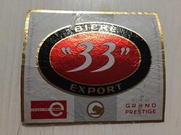 Ancienne Étiquette 1.1 BIÈRE 33 EXPORT GRAND PRESTIGE - Bière