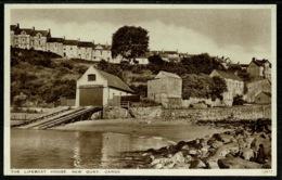 Ref 1257 - J. Salmon Postcard Lifeboat House - New Quay Cardiganshire Wales - Cardiganshire
