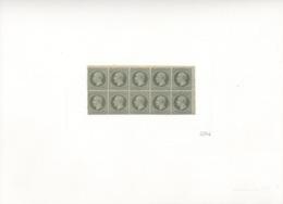 Hannover 18 10er Block Faksimiledruck Der Deutschen Post Auf Karton - Hanovre
