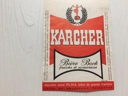 Ancienne Étiquette 1.1 BIÈRE PILSKA PILS KARCHER UNION DE BRASSERIE PARISIENNE - Bière