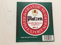 Ancienne Étiquette 1.1 BIÈRE PLATZEN MOTTE CORDONNIER - Bière