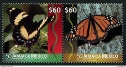 Jamaica (2016) - Set -  /  Diplomatic Relations With Jamaica - Butterflies - Butterfly - Papillon - Mariposas - Vlinders - Joint Issues