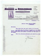SOCIETE ANONYME DES MARBRES DU BOULONNAIS HYDREQUENT - RINXENT (P D C ) 26 FEVRIER 1936 - Frankrijk