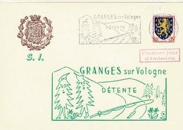 TP 1354 Sur Carte Du Syndicat D'Initiative De Granges Sur Vologne Avec Cachet 1er Jour D'Emission - Marcophilie (Lettres)