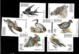 Serie De Madagascar Nº Yvert 1024/30 **  AVES (BIRDS) - Madagascar (1960-...)
