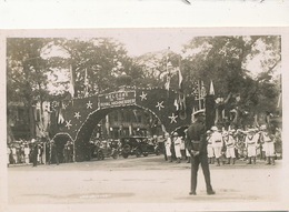 Carte Photo Maurice Mauritius  Triumphal Arch Welcome To Their Royal Highnesses - Mauritius