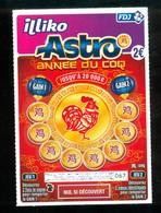 Grattage FDJ - FRANCAISE DES JEUX - ASTRO ANNEE DU COQ 60801 SPECIMEN - Billets De Loterie