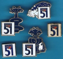 5 PIN'S //  ** APÉRITIF / PASTIS 51 ** - Pin's