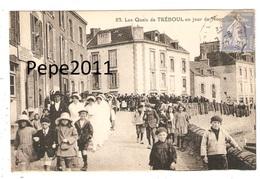 CPA 29 TREBOUL - Les Quais De TREBOUL Un Jour De Noce - Belle Animation - (Peu Commune) - Tréboul