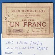 Lens  62/804  Du 7/101914  Mines  De  Lens  Rare   R3 - Bons & Nécessité