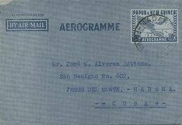 Aerogramme Sent From Madang To Cuba   1953 - Papua New Guinea