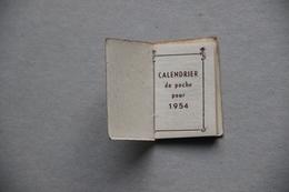 Calendrier De Poche 1954 (3,5 Cm X 5 Cm), Publicité Cafés Henri à Toulon (Var) - Calendriers