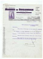 SOCIETE ANONYME DES MARBRES DU BOULONNAIS HYDREQUENT - RINXENT (P D C ) 09 AVRIL 1936 - France