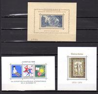 1937-74  Luxembourg, Blocs Feuillet 2-4-5-6-8-9**, Cote 82,50 €, - Blocks & Sheetlets & Panes