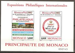 MONACO 2002 Bloc 88 ** Exposition Philatélique MonacoPhil2002 - Blocks & Sheetlets